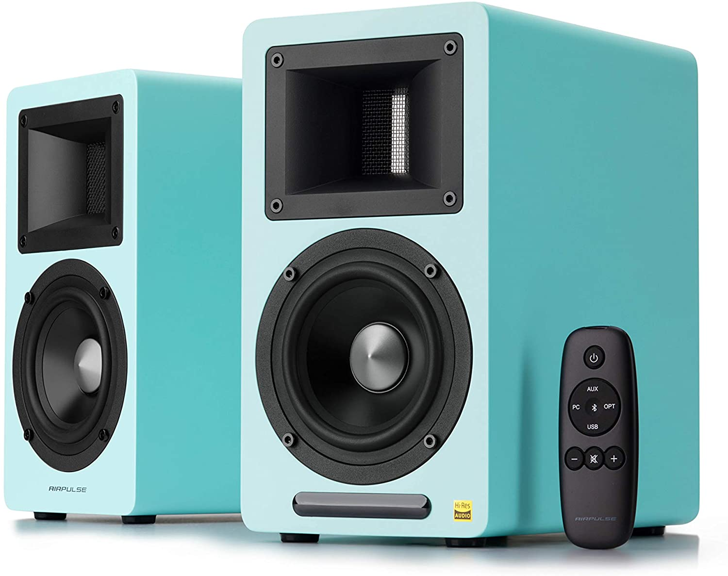 INTRODUCING THE NEW ELECTRIC BLUE AIRPULSE A80 ACTIVE SPEAKERS