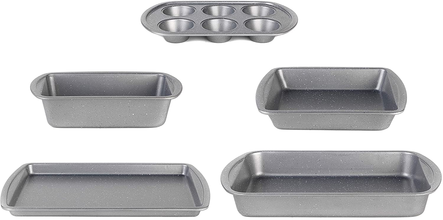 Progress 5-Piece Set Metallic Marble Bakeware Collection Review