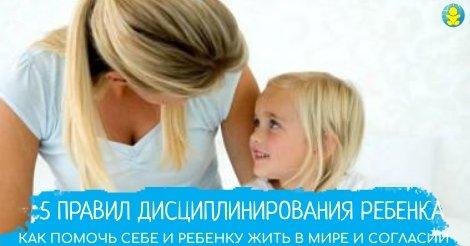 5 правил дисциплинирования ребенка. Как помочь себе и ребенку жить в мире и согласии
