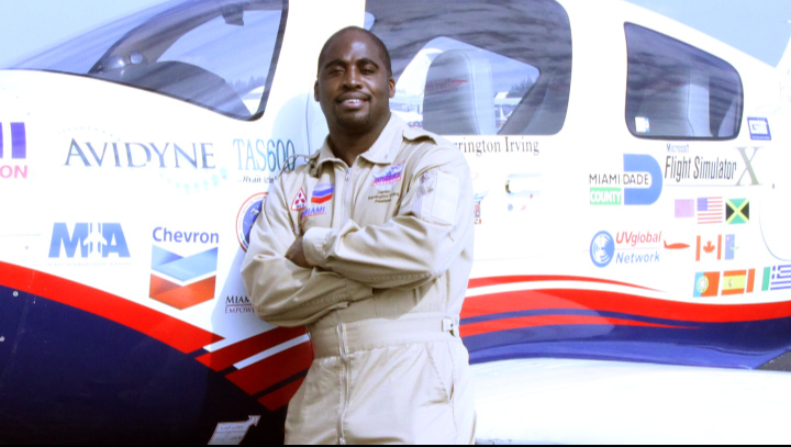 Jamaican first youngest person to fly around the world