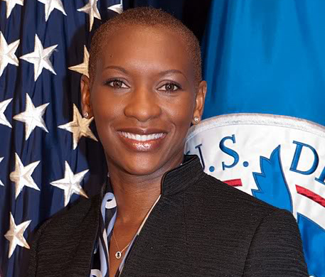 Deaf Jamaican woman Claudia Gordon associate director in the White House Office of Public Engagement