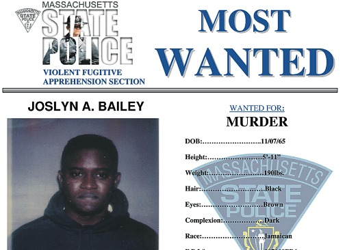 man on run for murder 19 years Joslyn Bailey Jamaican