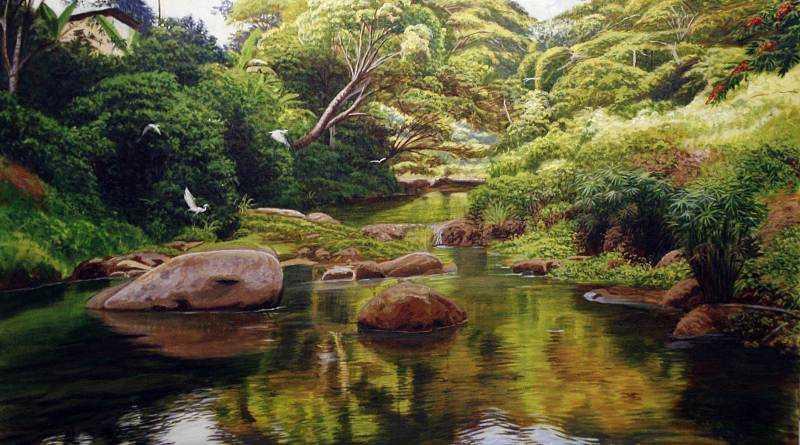 Painting of beautiful places in Jamaica