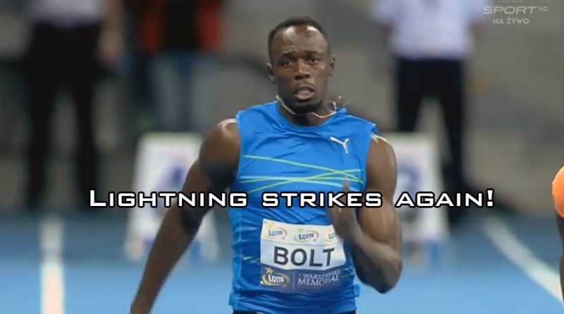 Usain Bolt video world indoor record