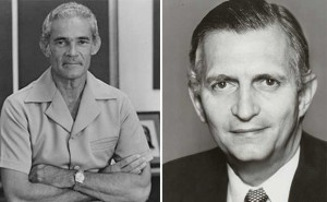 Michael Manley (left) and Edward Seaga - Images via - jamaicaobserver.com