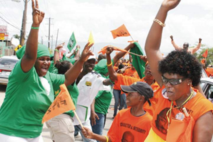 JLP and PNP supporters - Image Source: jamaicaobserver.com