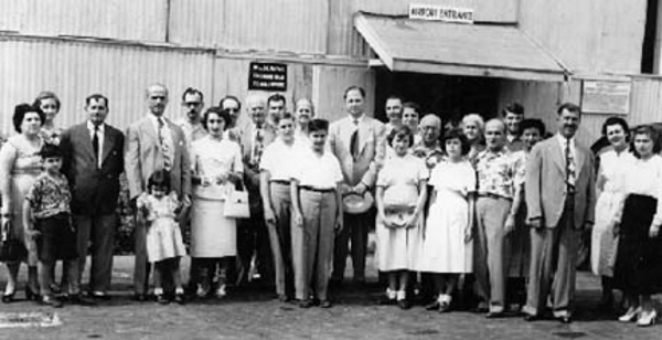 1940s: Members of the Lebanese community come out to the Palisadoes airport to meet George Shoucair, who has just arrived from Lebanon. He is the gentleman in the middle with a hat in his hand.