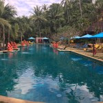 Der Pool des Hotels