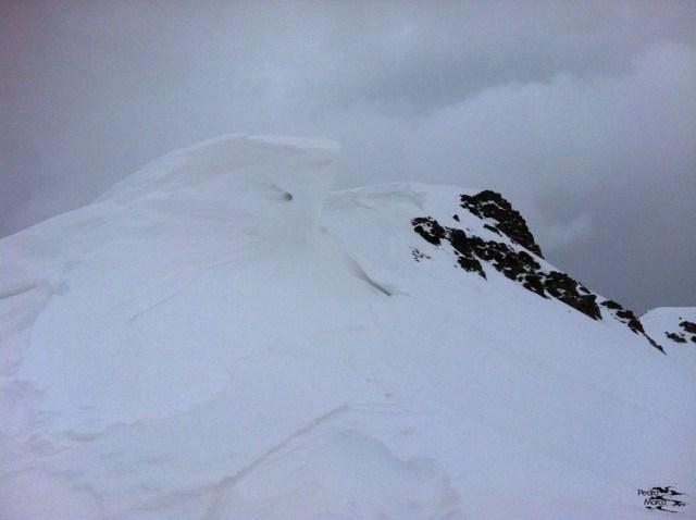 Cornisas hacia el Pico Escalar