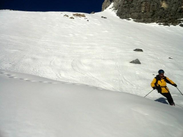Esquiada primera pala Caillabet
