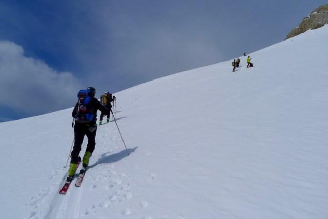 Ultimas zetas antes de quitar esquís