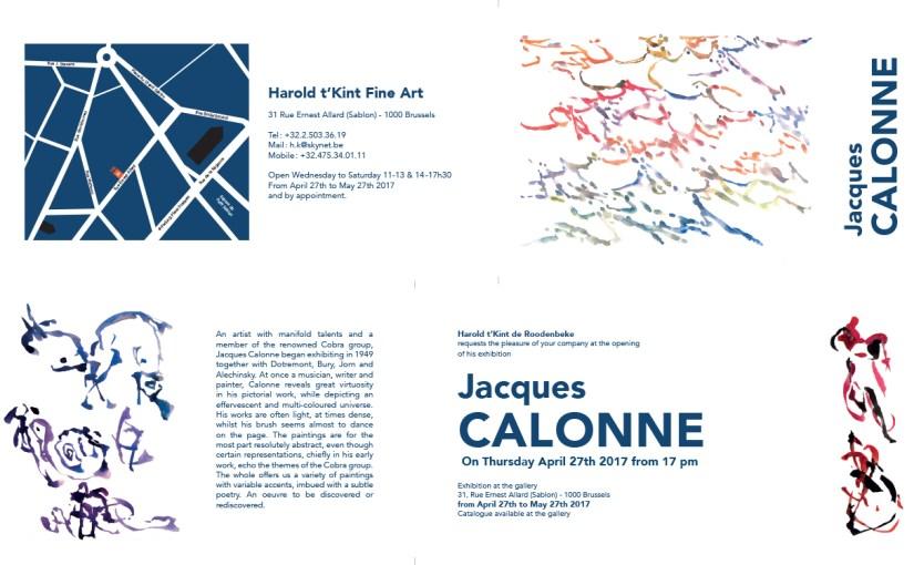 Jacques Calonne expose à la Galerie 't Kint à Bruxelles