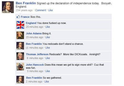if facebook existed julius caesar abraham lincoln asteroid rex