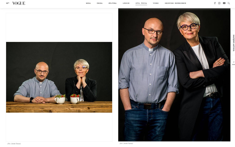 VOGUE POLSKA - Karolina Korwin Piotrowska i Grzegorz Kramer, zdjęcia do wywiadu