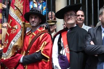 Fran Aísa (síndico) y Juan Manuel Ramón, alcalde de Jaca.