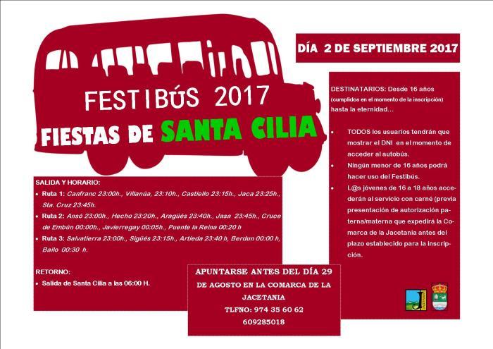 Cartel Fiestas Santa Cilia