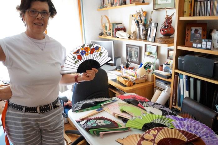 Miriam Palacios en su estudio