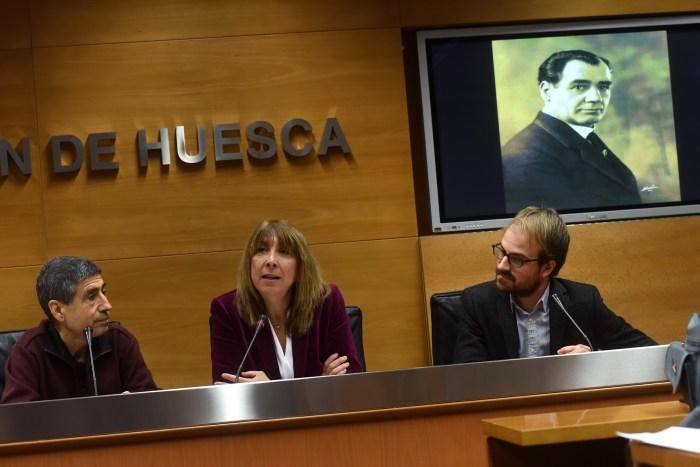 Jesús Bosque, Berta Fernández y Victor Casanova durante la rueda de prensa (Autor - Javier Blasco)