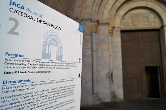 La Catedral de Jaca se iluminará este jueves de azul para recibir al Año Jacobeo. (FOTO: Rebeca Ruiz)