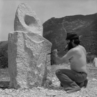 Pedro Tramullas en Hecho. 1975. (FOTO: JM GARCÉS. Fototeca DPH)