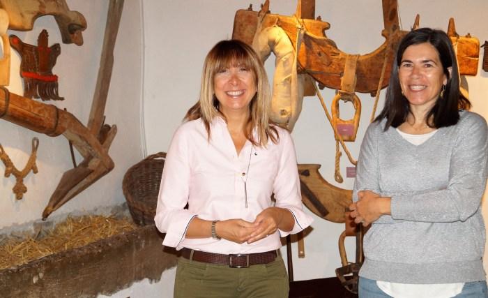 MUSEO ÁNGEL ORENSANZ. Berta Fernández y Begoña Subías, en el museo, en una imagen de archivo. (FOTO: Rebeca Ruiz)