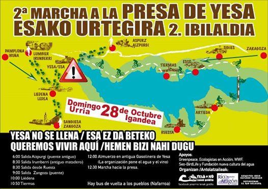 La II Marcha a la Presa de Yesa contra el recrecimiento se celebrará el 28 de octubre