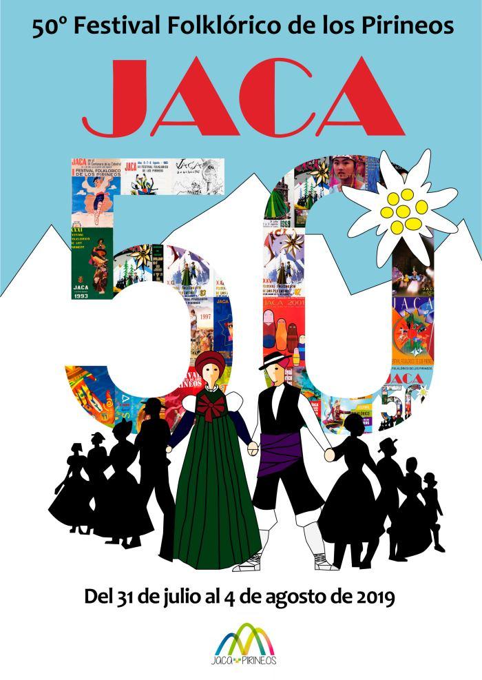 FESTIVAL FOLKLÓRICO DE LOS PIRINEOS. Cartel de Jorge Antoni.