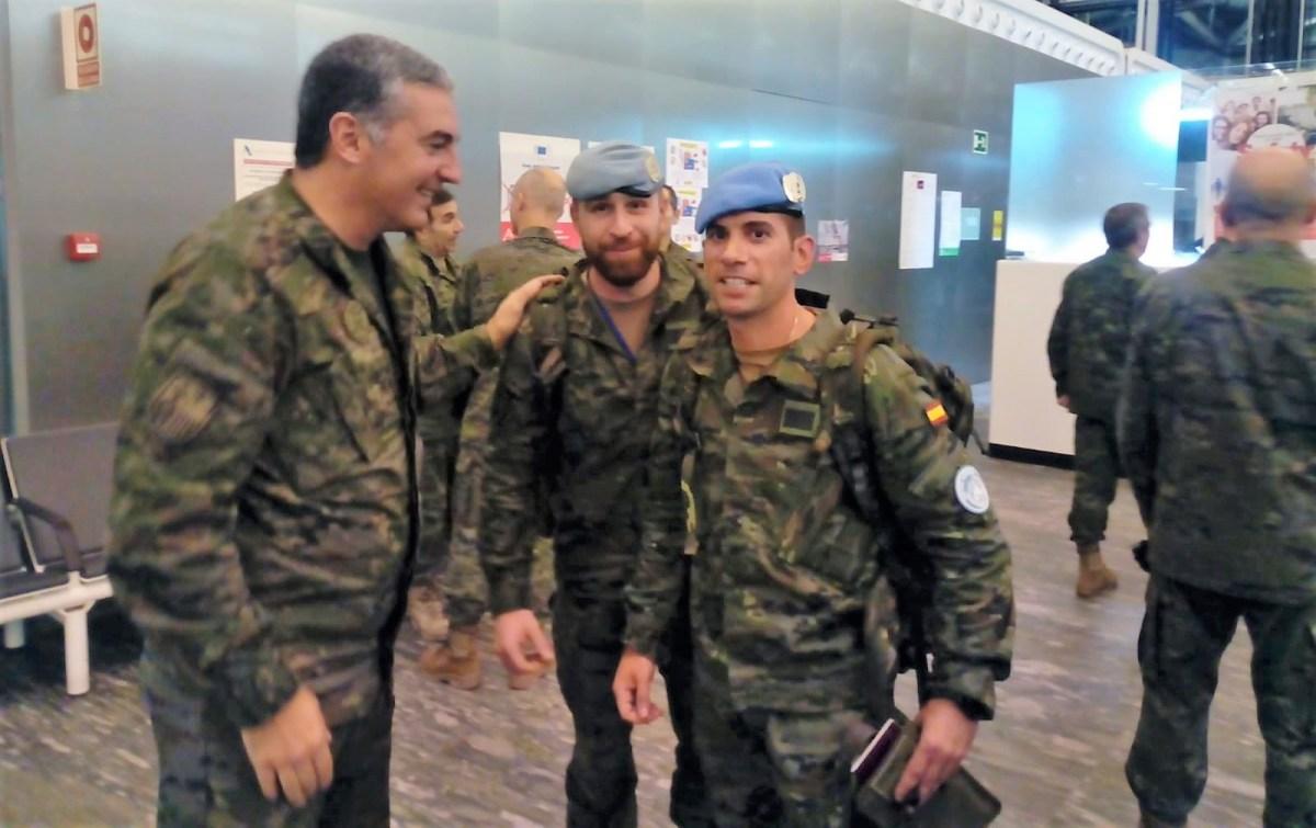 Vuelven a casa otros 70 militares de Jaca tras seis meses en el Líbano