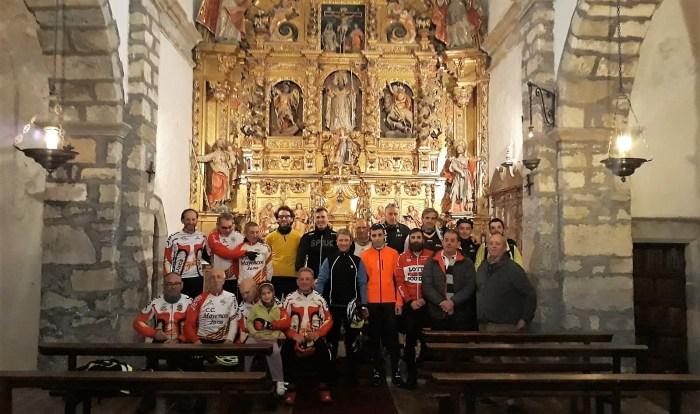 NAVASA. Los participantes en el belén ciclista de 2018.