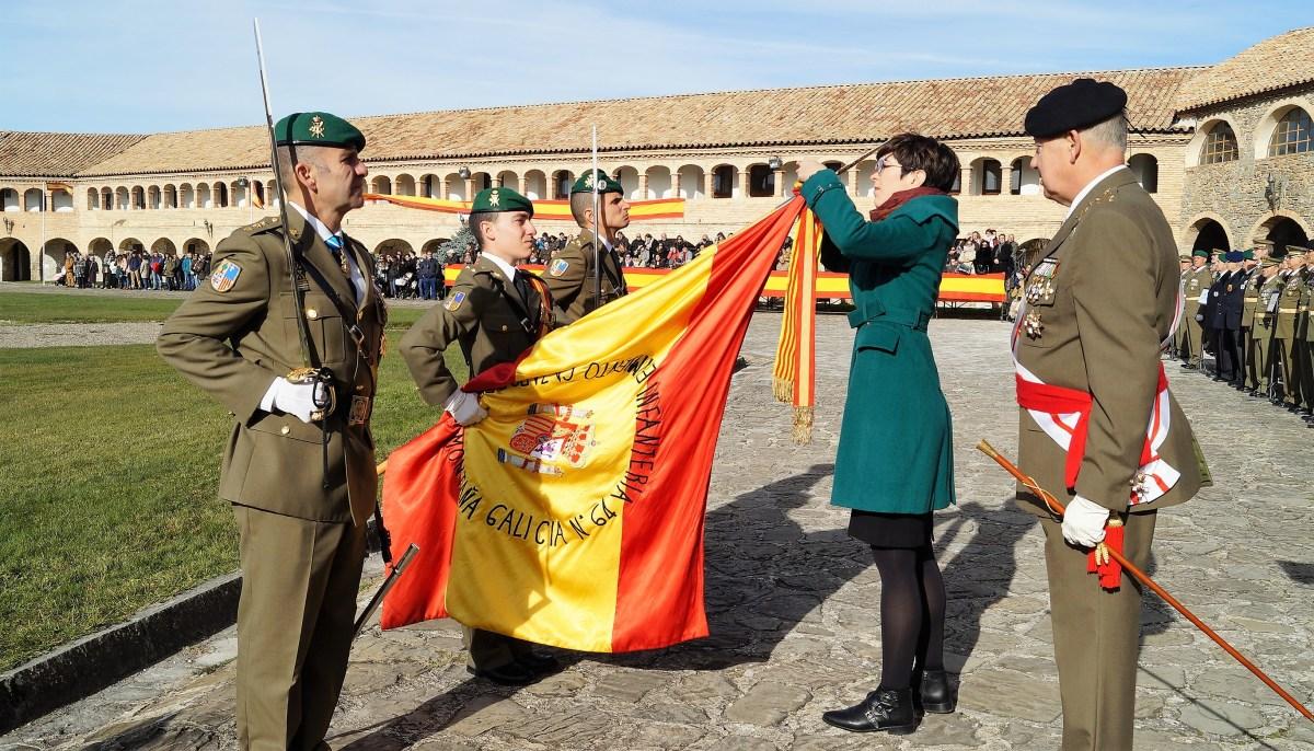 El Regimiento Galicia 64 rinde honores a su patrona en Jaca