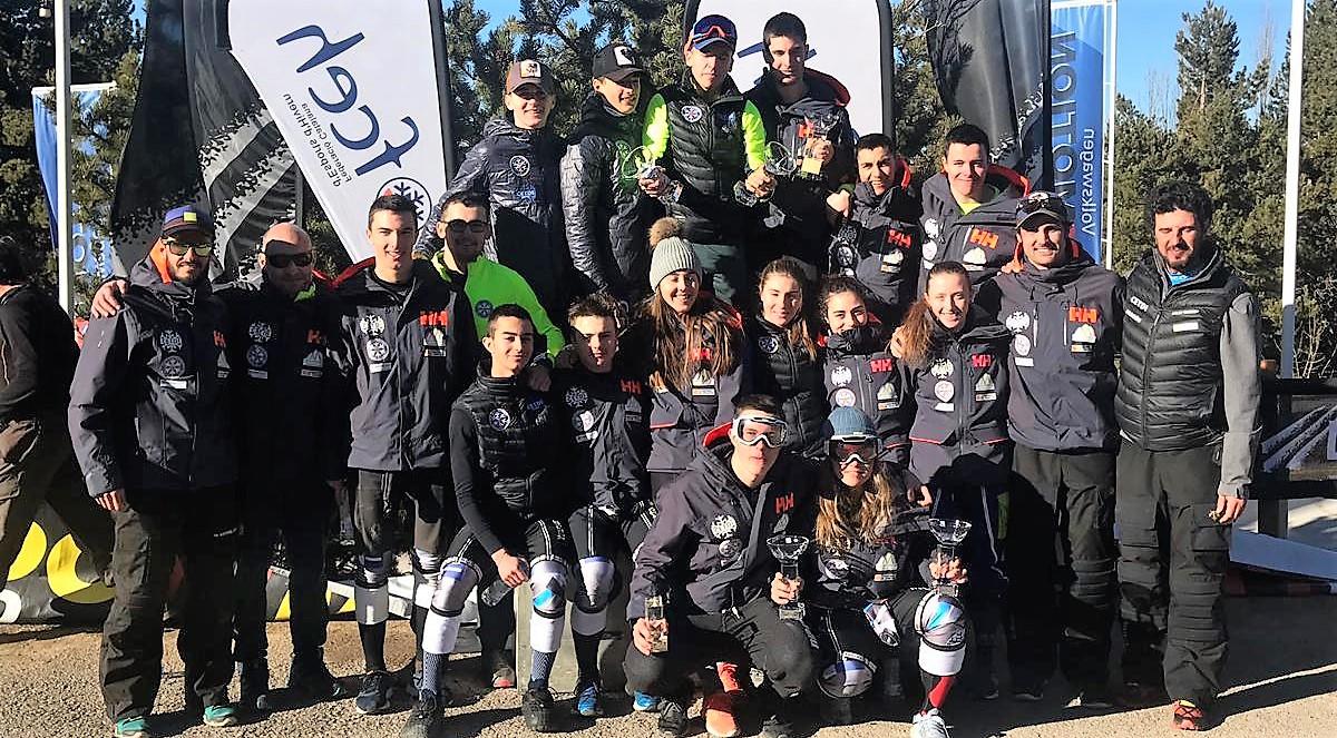 El CETDI Aragón brilla con luz propia en el circuito de la Federación Internacional de Esquí en el Pirineo