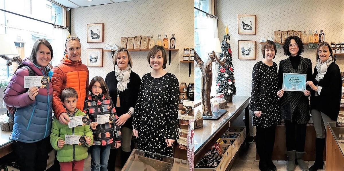 L'Artesa y Francisco Torres recogen los premios del Concurso de Árboles de Navidad de Biescas