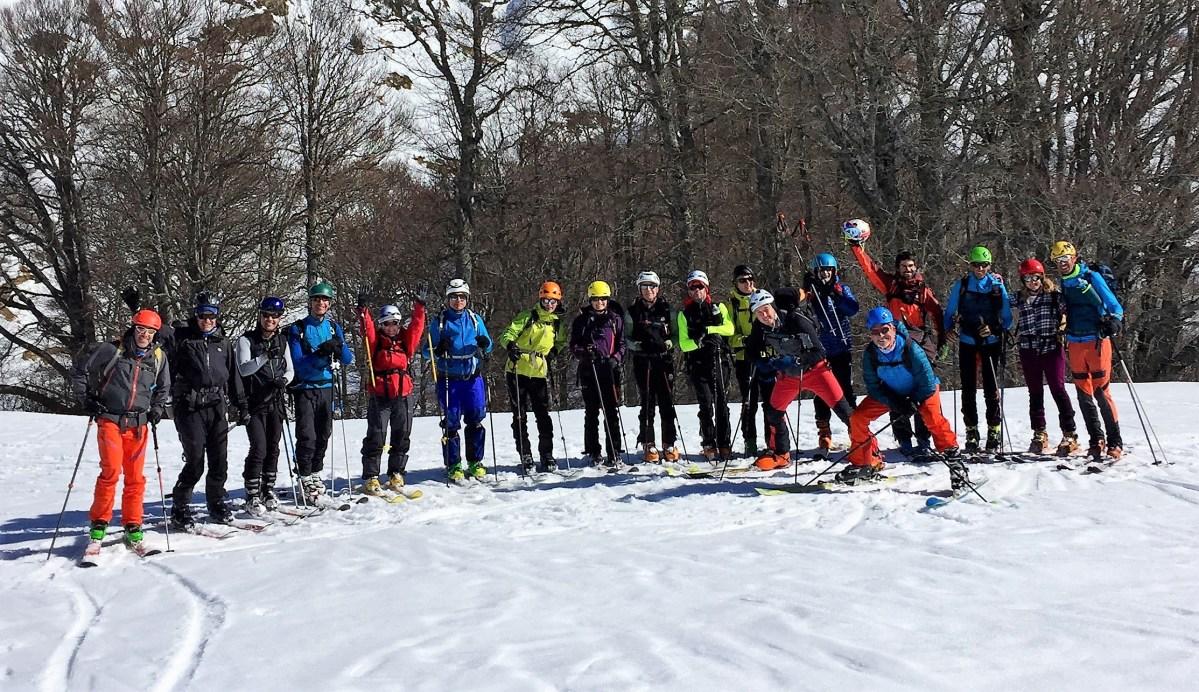18 esquiadores de Mayencos, en el Chinebral de Gamueta