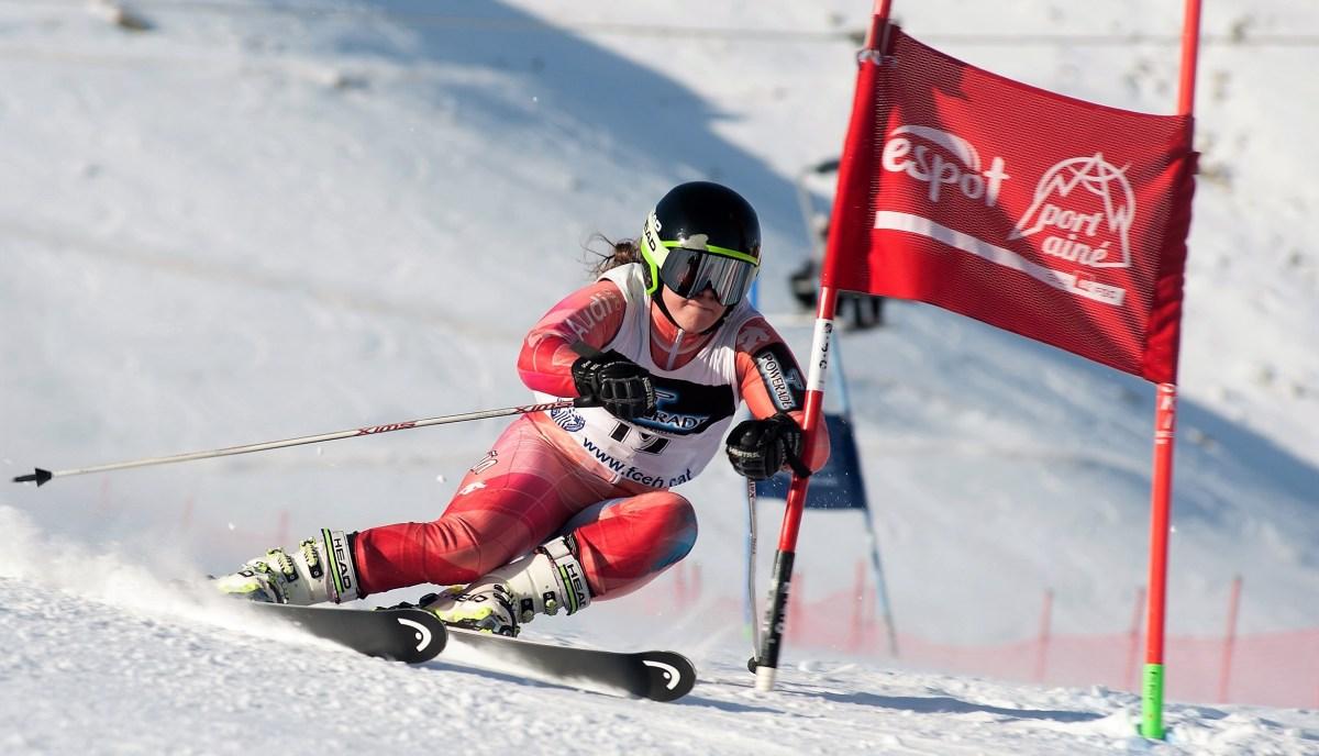 La jaquesa Inda Garín logra un destacado segundo puesto en el Gigante FIS de Val D'Isere
