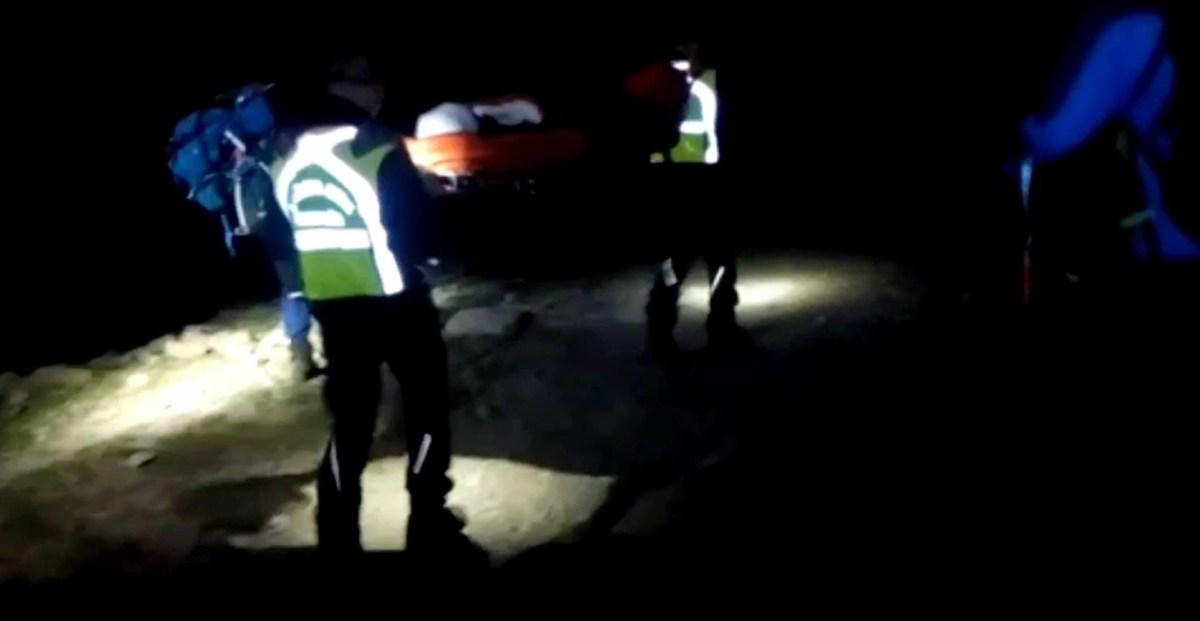 Rescate nocturno de una mujer lesionada en el Valle de Hecho