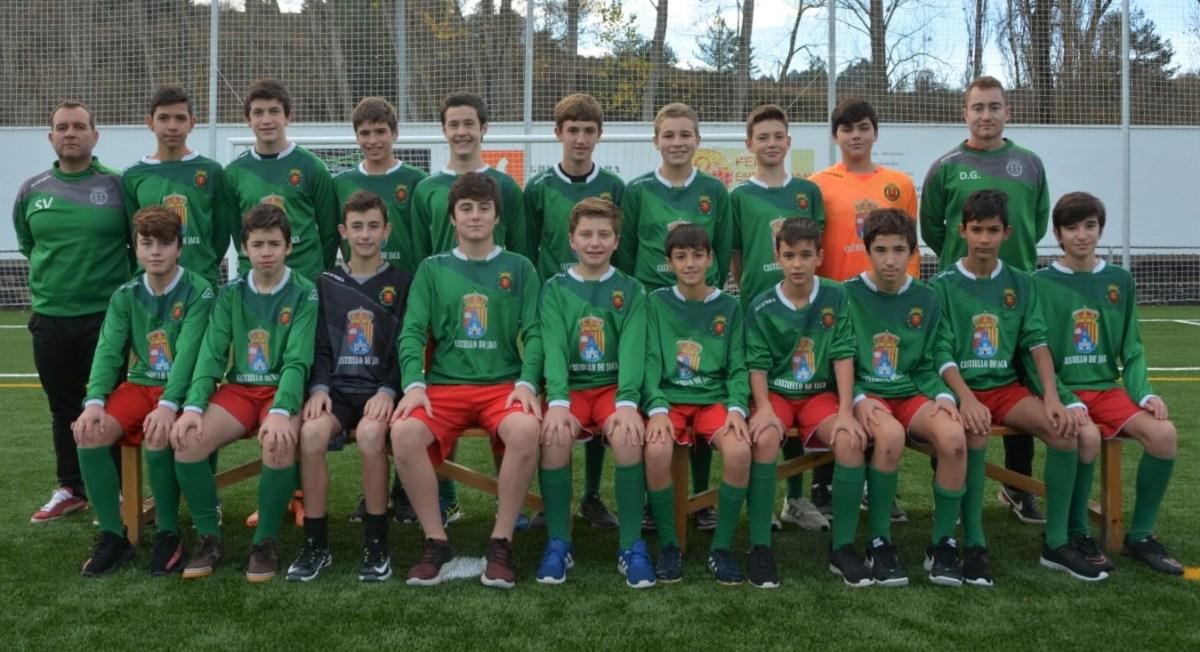 El Primera Infantil del CF Jacetano, a un paso de ganar la Liga Provincial de Fútbol 11