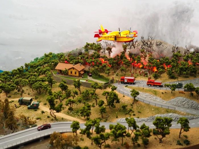 UME. Detalle del nuevo diorama de la Unidad Militar de Emergencias.