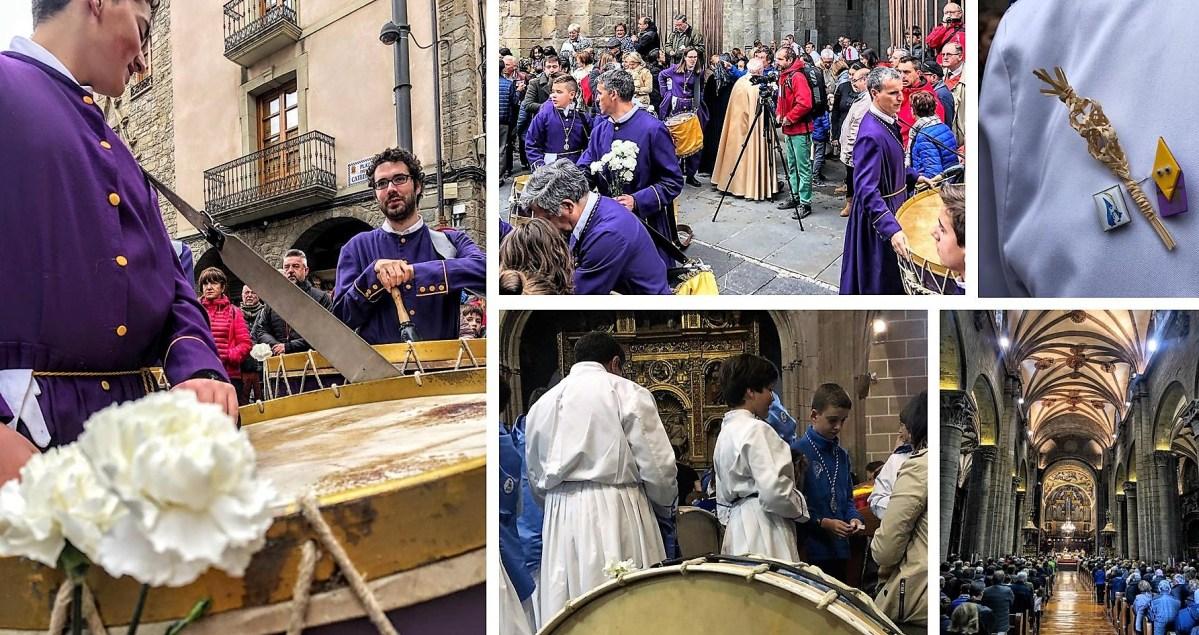 La amenaza de lluvia desluce el final de la Semana Santa de Jaca