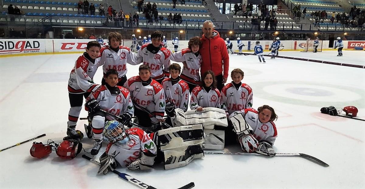 Buen papel de los U12 del Club Hielo Jaca en el Festival Eurored de Hockey Hielo celebrado en San Sebastián