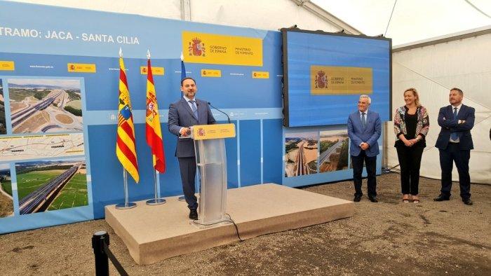 AUTOVÍA. Acto oficial de puesta en servicio del tramo Jaca Oeste-Santa Cilia. (FOTO: Gobierno de Aragón)