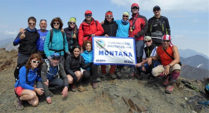 BACHIMALA. Parte del grupo del Club Pirineísta Mayencos. (FOTO: Chema Tapia)