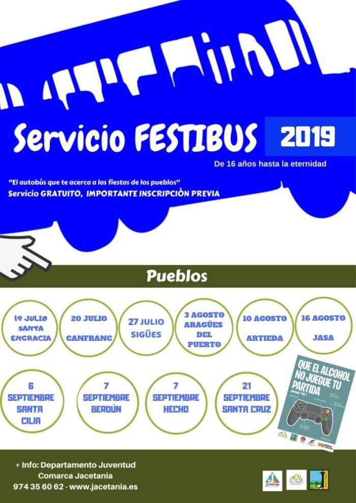 FESTIBÚS. El Festibús realizará servicio en 10 pueblos.