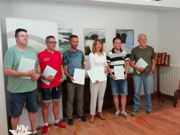 CONVENIOS. Acuerdos deportivos en Sabiñánigo.
