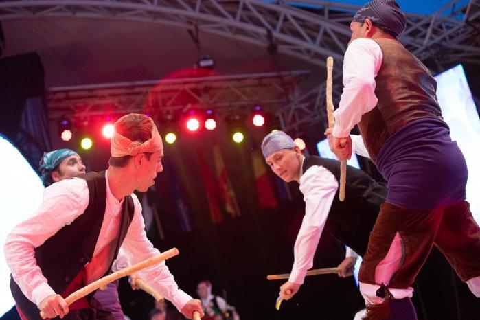 ALTO ARAGÓN. El grupo, en Rumanía.