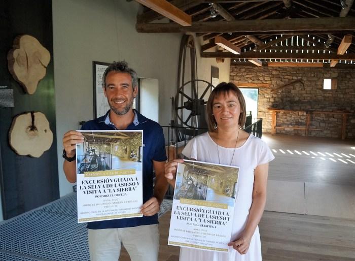 PROPUESTAS. Javier de Etura y Nuria Pargada, en la Serrería. (FOTO: Rebeca Ruiz)