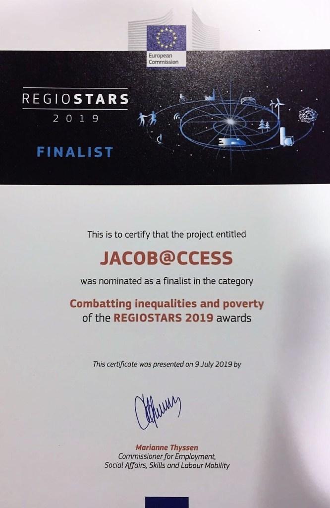 Jacob@ccess. Reconocimiento en Europa.