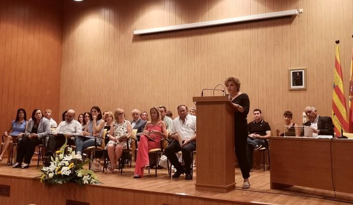 MONTSE CASTÁN. Montse Castán, durante su discurso de investidura.