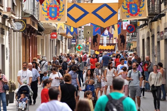 JACA. Ambiente durante el Mercado Medieval de las Tres Culturas -Festival Internacional del Camino de Santiago-. (FOTO: Rebeca Ruiz)
