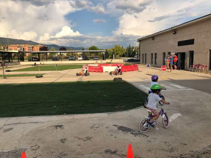 MOVILIDAD. Karts a pedales en el Centro de Educación Vial. (FOTO: Rebeca Ruiz)