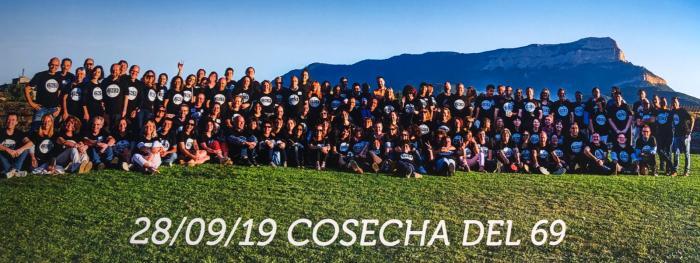 COSECHA 69. Participantes en el encuentro celebrado en Jaca de los nacidos en 1969.